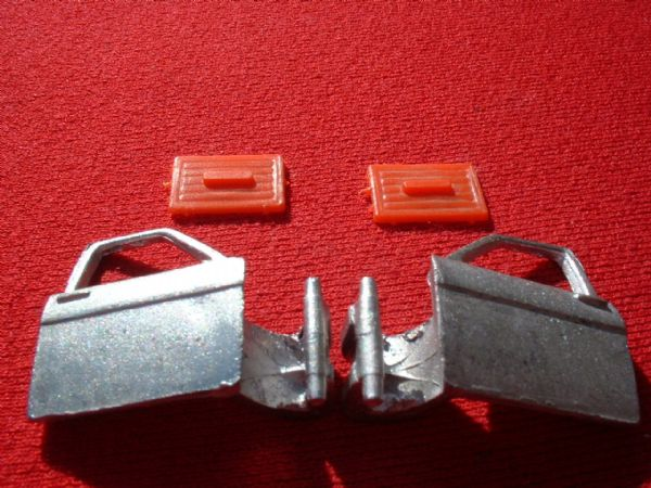 Dinky Toys 164 Ford Zodiac Mk IV {front Left and Right doors with RED Plastic trims}  (Set price)